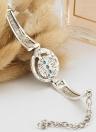 Moda retrò Boho Turchese arrotondato Owl Elephant Palm mano cerchio braccialetto per i monili delle donne