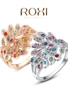 Roxi New Fashion Charm Hot Bague plaqué or avec Colorful zircons strass cristal pour les femmes cadeau Girls Party
