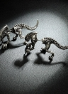 Fashion Personalidade Alloy Piercing Dinosaurio Stereoscopic Ear Studs for Youth Women Jewelry