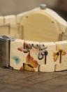 BOBO BIRD Moda relógio de madeira de bambu para mulheres Quartz Butterfly Madeira Senhoras relogio casual Melhor presente + caixa