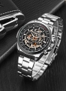 WINNER Hollowe Out Semi Automatic Mechanical Hand-winding Men's Watch