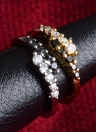 Moda Original Simulated Gold Plated Crystal Rhinestone Ring