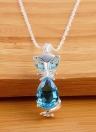 Moda Estilo único animal lindo Fox Copper Zircon Rhinestone colar de jóias de cadeia para mulheres partido presente de casamento Meninas