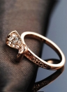 Roxi Bowknot Gold Plated Zircon Crystal Rhinestone Ring
