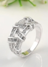 Roxi Gold Plated Zircon Crystal Rhinestone Weave Ring