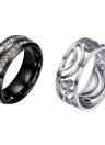 Punk Female Metal Titanium Steel Ring