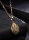 Moda Natural Gold Plated Necklace Crystal Pendant Chain