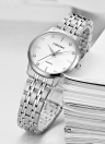 LONGBO Luxury Diamond Stainless Steel Couple's Watches