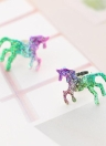 Moda moda Cor de cor fresca Brinco Pony Ear Studs Mulheres Shiny Jewelry Party Ear Decoração