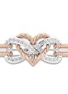 Forma de corazón de amor Diamante Anillo de moda dorado Anillos de cristal Joyas para fiesta Accesorios de boda de mujeres y niñas