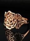 Jóias Anel de Alta Qualidade de Ouro Retro Roxi Moda de Nova Hot banhado oco Flor do vintage para Mulheres Meninas do presente
