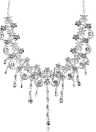 Dazzling Rhinestone Crystal Pendant Necklace and Earrings Jewelry Set