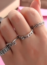 4 PCS Vintage Retro Anti-silver Plated Knuckle Finger Ring Set