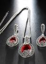Fashion Retro Water-drop Ensemble Boucles d'oreilles en cristal