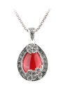 Fashion Retro Water-drop Full Crystal Necklace Ring Earrings Set