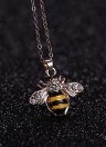 Frauen Fashion Natural Cute Bee Strass Anhänger Halskette Personalisierte Schmuck Dekoration