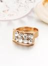 Fashion Jewlery Set Water-drop Ball Chain Embedded Crystal Necklace Ear Studs Bracelet Ring Women Jewelry