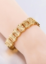 Popular Gold Plated Jewelry Moda Mulheres Lady High Quality Wide Bracelet