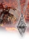 Dinosaurio noctilucente europeo colgante película circundante Skyrim collar de dragón antiguo desplazamiento cuello decoraciones accesorios