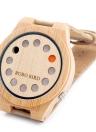 BOBOBIRD Moda Casual Relógio de bambu relógio de quartzo unisex
