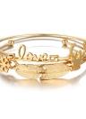 4pcs pulsera conjunto letra amor diseño lindo azada pluma forma aleación pulseras