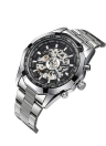 WINNER Automatic Mechanical Skeleton See-through Dial Hand-winding Men's Watch