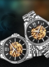 Angela Bos Luxury Automatic Mechanical Wristwatch 3ATM Analog Men Watch