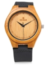REDEAR Simple Dial Bamboo Water Resistant Quartz Watch