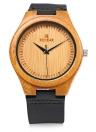 Redear simple Dial resistente a la gama alta de bambú natural único reloj de pulsera de agua diario El hombre reloj de cuarzo para aniversario de boda