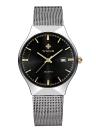 WWOOR Ultra Thin Dial FashionCalendar Quartz Mesh Stainless Steel Watches
