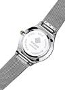 Relojes de acero inoxidable de la malla del cuarzo de FashionCalendar del dial ultra delgado de WWOOR