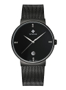 WWOOR Ultra Thin Mode luxe de Diamond Quartz Ananlog Man Casual Montre en acier inoxydable Simplicité Hommes Decorative Montre + Coffret
