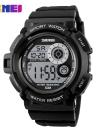 SKMEI LED Digital 50M à prova de água Unisex Sports Militar cool relógios das mulheres dos homens eletrônicos ao ar livre relógio de pulso Casual Relógio Backlight Chronograph Data Relógio 7 Cores