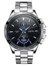 Longbo Brand New Мода Спорт наручные часы Роскошные Кварцевые часы Мужчины сплава ремень Часы Человек Водонепроницаемый Военные часы 8833