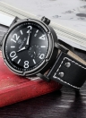SKONE New Fashion Luxury PU Leather Quartz Analog Men Watch