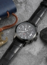 Relógio Quartz Resistente à Água de Menor Romacci Men's