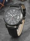 Reloj de cuarzo resistente al agua de cuero Romacci para hombre