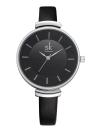 SK Brand Luxury PU Leather Strap Quartz Relógios Mulher Simplicity Analog 30M Water-Proof Ladies Relógio de pulso Feminino Relogio