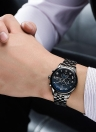 TEVISE Luxury Moon Phase Luminous Stainless Steel Hombre reloj mecánico