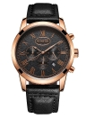 OCHSTIN Antique Luxury Genuine Leather Quartz Men Casual Watch