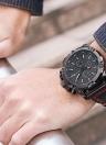 Montre-bracelet à quartz militaire pour homme