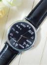 OKTIME Wandergirls fórmula matemática unisex reloj de pulsera de cuarzo de moda