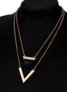 Lady europeus e americanos da moda triângulo turquesa mulheres colar