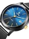 TEVISE marca de lujo de oro mecánico automático Men Watch