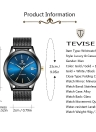 TEVISE Brand Luxury Gold Automatic Mechanical Men Watch