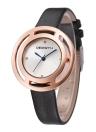 REBIRTH Brand Luxury Diamond Quartz PU Leather Ladies Casual Wristwatch