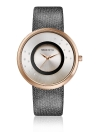 REBIRTH Brand Luxury Diamond Quartz PU Montres en cuir en dames