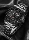 RISTOS 2017 Moda relógio de aço inoxidável para homens