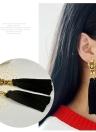 Adatti gli orecchini di goccia lunghi della nappa di stile della Boemia di stile popolare