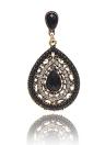 Boucles d'oreilles en cristal de style Bohemian Crystal Water-Drop pour femmes